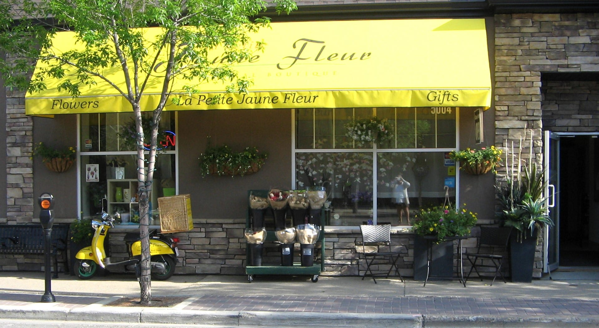 La Petite Jaune Fleur Storefront Downtown Red Deer